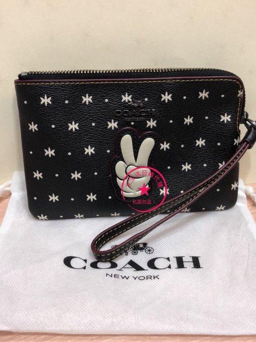 代購現貨  COACH & Disney聯名手腕包/手拿包/錢包
