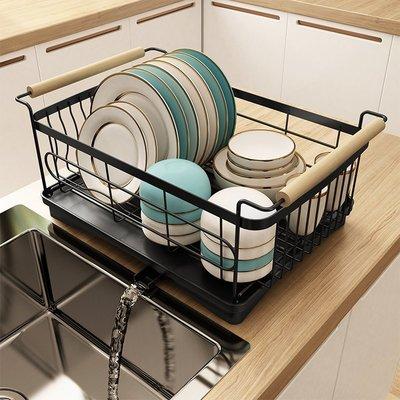 北歐廚房碗碟置物架水池水槽洗碗池瀝水架臺面餐具碗筷收納架神器