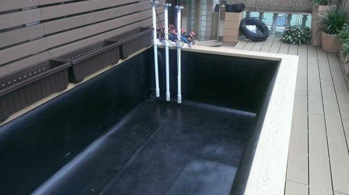 HDPE 1mm 輻寬3.45m - 不透水布.防水布.防潮布.地工膜.防漏 (適用於魚菜共生)