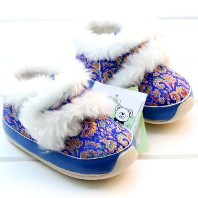 森林寶貝屋~膠底藍繡花鞋~學步鞋~童鞋...