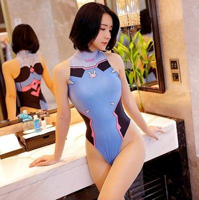 日本二次元動漫少女死庫水cosplay情趣開檔緊身高衩連身比基尼 BB1619