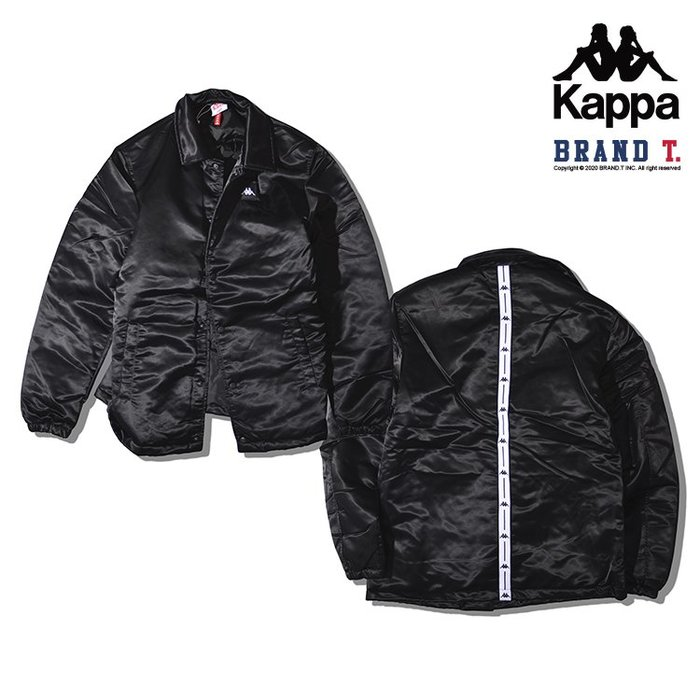 【Brand T】KAPPA AUTHENTIC BERMI JACKET 黑色*串標*刺繡*LOGO*夾克*外套