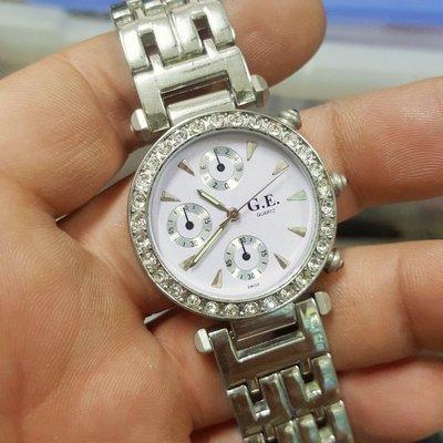 3.2錶徑 實心錶帶 鑽圈 三眼樣式 非 Rolex OMEGA GUCCI LONGINES F4