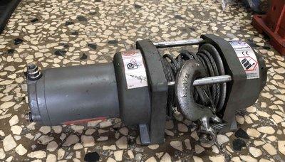 美國WARN CEU2500型 車用24V電動油壓絞盤 WINCH 1100KG 電動捲揚機、車用拖車