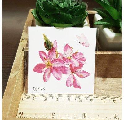 【萌古屋】花朵單圖CC-128 - 防水紋身貼紙刺青貼紙K38