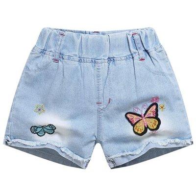 女童短褲 女童牛仔短褲2018新款時尚洋氣百搭外穿兒童裝夏裝中大童女孩薄款