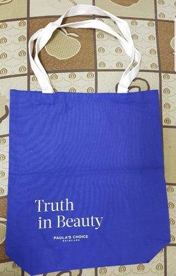 PAULA'S CHOICE寶拉珍選 Truth in Beauty 寶拉珍選品牌帆布袋  全新品  兩面圖案都一樣