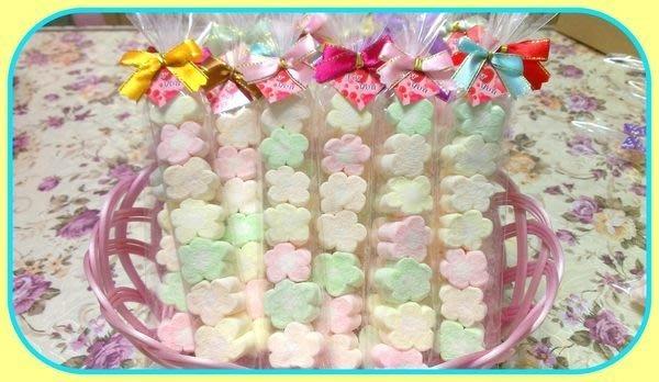 歡樂時光~7顆小花朵棉花糖加小卡+貼紙@9元*180份=1620元.運費另計~