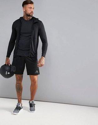ADIDAS CLIMALITE Training Work Out 健身訓練連帽外套 透氣排汗 黑灰 全新正品現貨XS