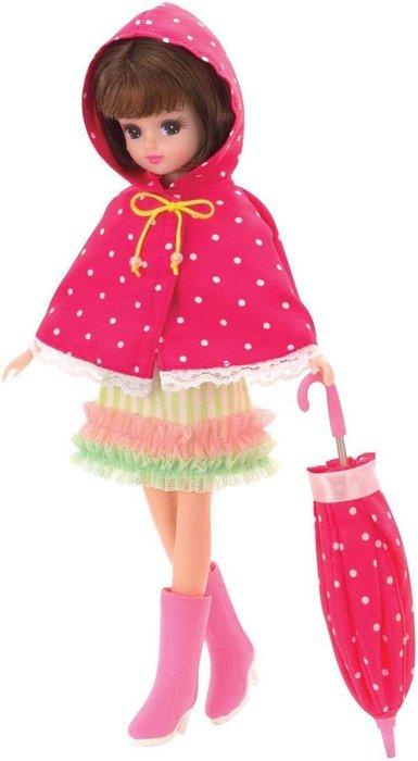 莉卡娃娃LW-10時尚 雨衣 雨傘 雨鞋(不含娃娃)_ LA 48502 原價650元 日本第一娃娃 永和小人國玩具店