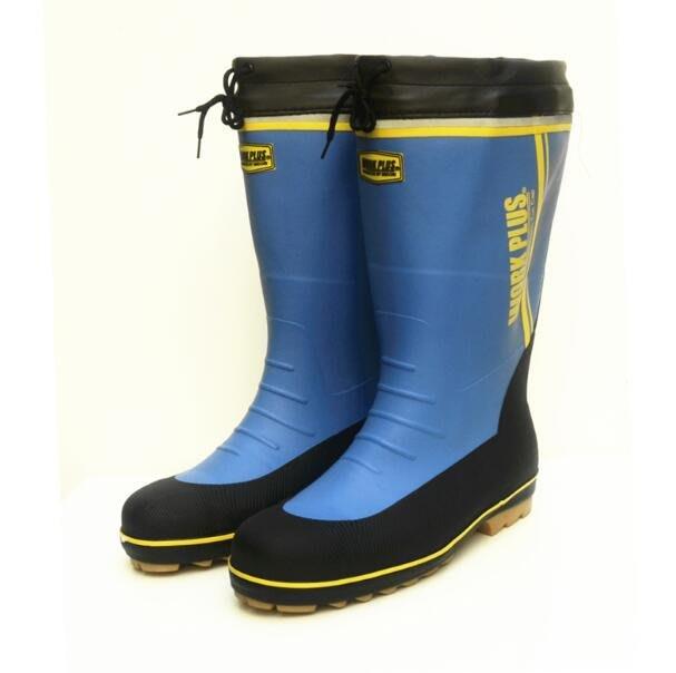 大尺碼雨鞋 男胖腳穿雨靴 特大筒圍橡膠大碼時尚水靴厚底鋼頭防砸保護鞋 安全鞋—莎芭
