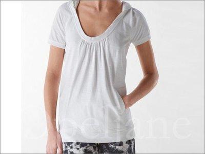 出清 特價999元全新 CK Calvin Klein Top卡文克萊白色短T 帽T上衣 S號 XS號 愛Coach包包