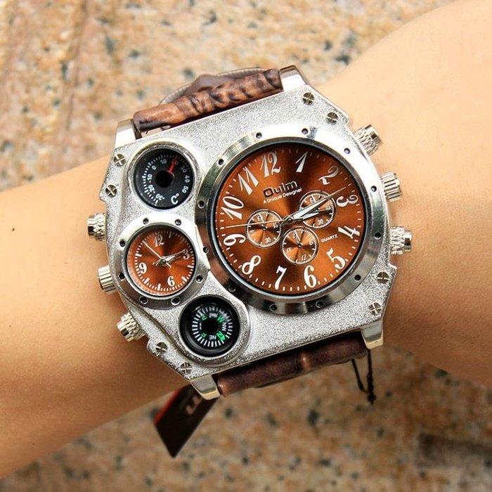 幾何圓盤創意手錶概念男錶歐美大盤嘻哈手錶陸軍手錶