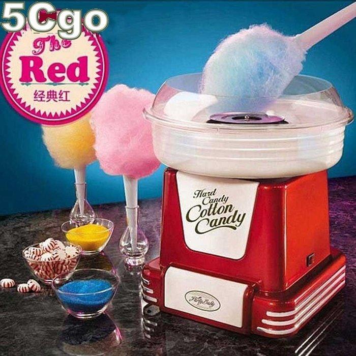 5Cgo【權宇】美國夢50年代複古造型家用棉花糖機 親子最佳禮物外銷美國品質紅色 220V送冷氣機插座+專用延長線 含稅