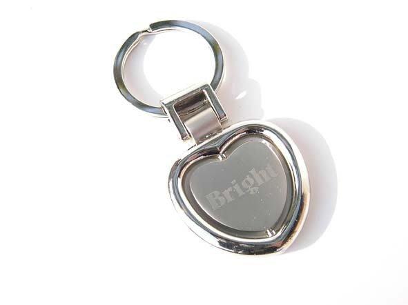 【銘記心禮】KR-1068轉動的心鑰匙圈圈、鎖圈(免費刻字)一輩子都要和妳當朋友