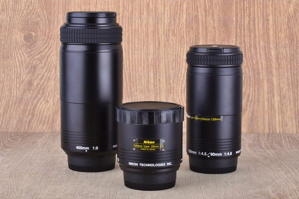 【台中品光攝影】NIKON三件鏡20mm F8+90mm F4.8/120mm F4.5+400mm F8#38314J