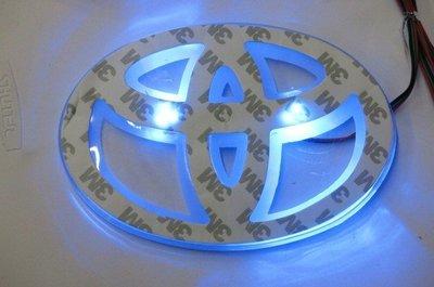 LED TOYOTA車標背光燈 現貨白,紅+藍,白+紅光 車標 LOGO 發光 背光燈 尾標燈車標