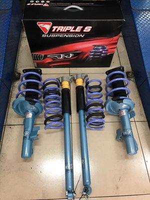 【優質輪胎】日本原裝KYB NEW SR藍筒避震器+TS短彈簧總成件(MAZDA5 馬5 IMAX)三重區