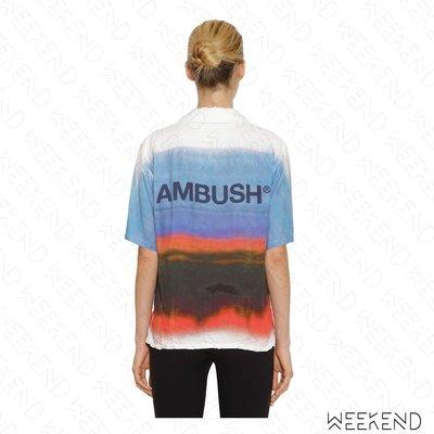 【WEEKEND】 AMBUSH 暈染 漸層 短袖 襯衫 多色 藍色 19春夏
