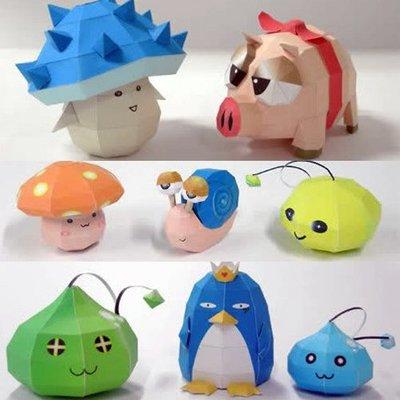 冒險島MapleStory 寶寶  手工制作 紙模型 DIY玩具8只