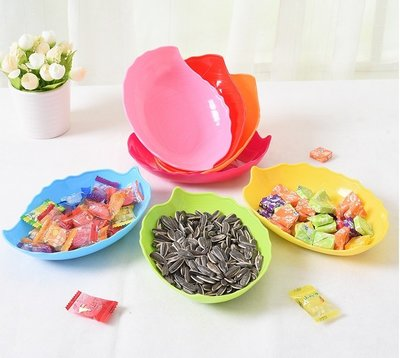 =吉米生活館= 樹葉零食盤 葉子水果盤 樹葉造型水果盤 葉子零食盤 樹葉碟子樹葉水果碟 塑膠水果盤 瓜子盤 樹葉糖果盤