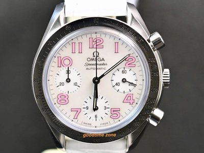 [好時計] Omega 歐米茄 Speedmaster Reduced 計時腕錶 貝殼面 OF47