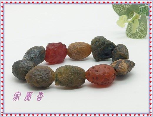 【家蓁香二館】精品天然新疆阿拉善 戈壁瑪瑙『筋脈手鏈』 項鏈奇石收藏,標本,原礦,原石(B-8-1)