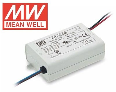 明緯 Mean Well APC-25-700 IP42 25W單組輸出開關電源 開發票