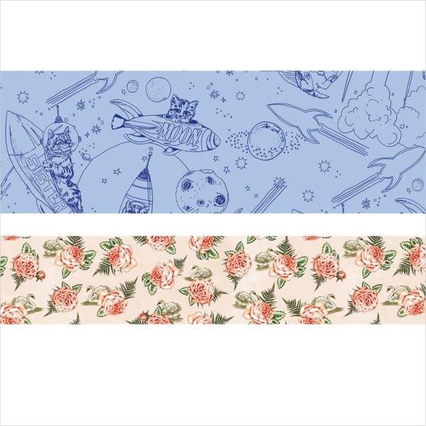 【R的雜貨舖】紙膠帶分裝 非整捲 PAUL & JOE La Papeterie Masking 天鵝玫瑰