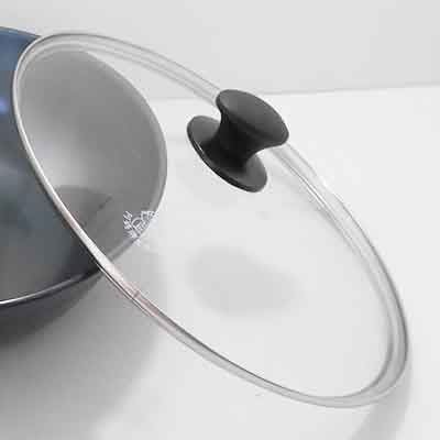 阿媽牌生鐵鍋 【40cm強化玻璃蓋】$600 不含鍋子
