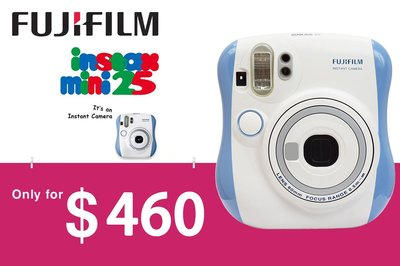 [DJS COMMERCE] Fujifilm Instax mini 25 Blue Color 藍色富士即影即有相機只需 $460 咋,快啲嚟搶購啦‼️