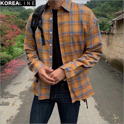 搖滾星球韓國代購  英倫風格紋襯衫 / 2色 MT6057