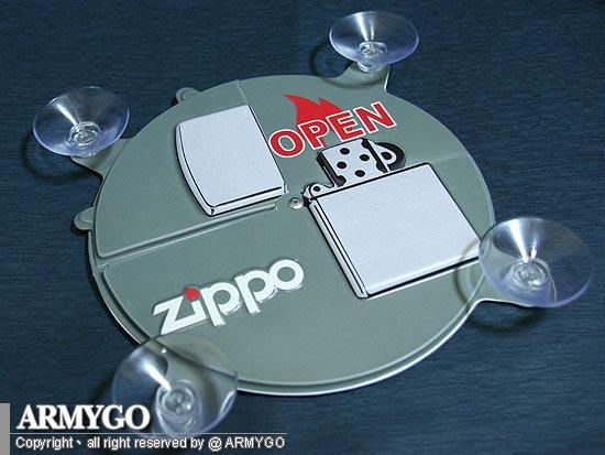 【ARMYGO】ZIPPO原廠 (OPEN / CLOSE) 吸盤看版