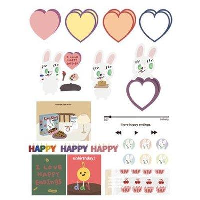 好心情日韓正品雜貨『韓國 MAZZZZY』happy 貼紙包 STICKER PACK 內含110枚貼紙