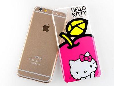 尼德斯Nydus~* 日本正版 三麗鷗 Hello kitty 凱蒂貓 透明蘋果 硬殼 手機殼 4.7吋 iPhone6