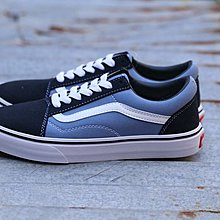 D-BOX  VANS Old Skool Pro Nav 經典款 白藍 低筒 帆布鞋