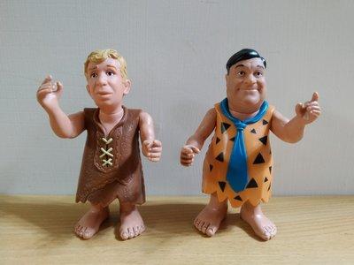 摩登原始人 Fred Flintstone and Barney Rubble公仔 正版 美版 兒童玩具 電影 卡通人物