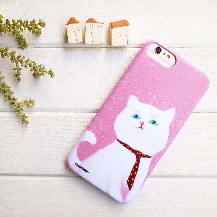 認真的白貓,有貓手機殼 (iPhone系列)