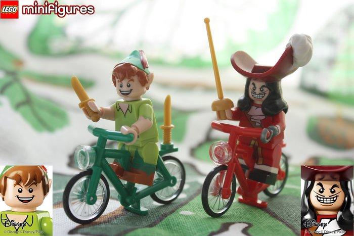 現貨超值組【LEGO 樂高】迪士尼人偶系列: Disney 71012 |  虎克船長 + 小飛俠 + 兩台腳踏車