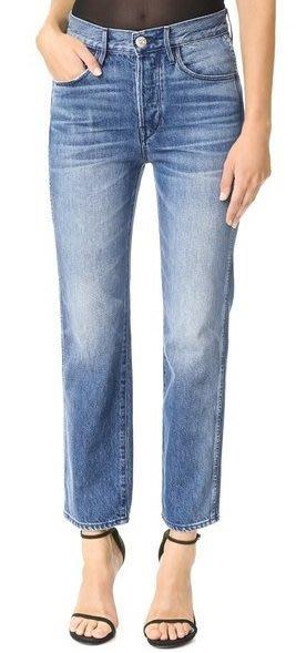 ◎美國代買◎3x1 Shelter austin 波紋藍刷白刷色微寛髮褲管復古高腰九分牛仔褲