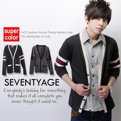 柒零年代【N7412J】韓版手袖接色滾邊排扣罩衫小外套(LE-6234)