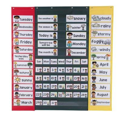 格格巫pocket chart 兒童早教學習掛袋日期字卡掛袋早教啟蒙學習掛袋