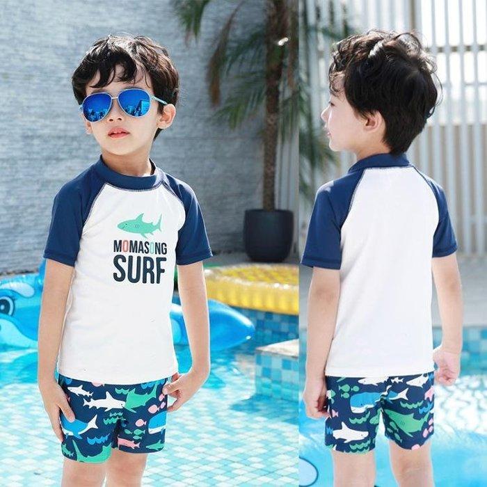泳衣 兒童泳衣男童鯊魚分體速干中大童男孩溫泉游泳衣防曬沙灘泳裝 全館免運