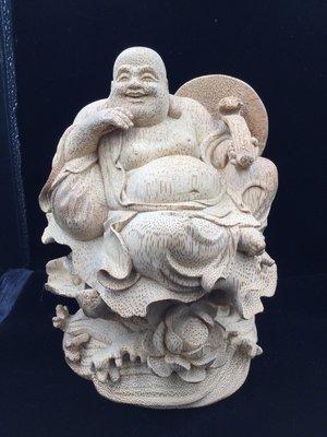 早期竹雕 彌勒財神