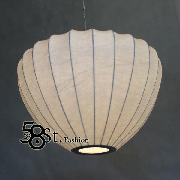 【58街】設計師款式「燈籠型 蠶絲吊燈,與原版相同款 天然蠶絲材質」複刻版。GH-260
