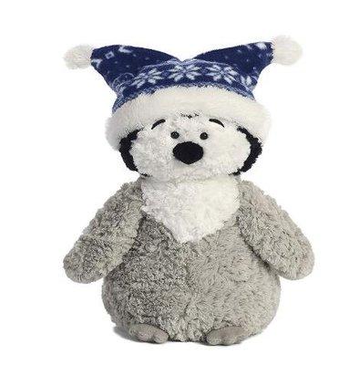 3900A 歐洲進口 限量品 企鵝絨毛娃娃 企鵝戴毛帽娃娃玩偶抱枕小朋友禮物可愛國王企鵝動物娃娃玩具擺飾