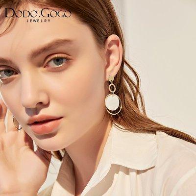 飾品 耳環 耳飾 潮品貝殼2018新款韓國潮氣質耳環女無耳洞耳夾網紅時尚個性耳墜耳飾品