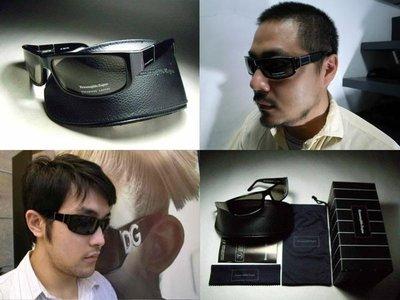 【信義計劃】Ermenegildo Zegna 傑尼亞 偏光太陽眼鏡 義大利製棕色黑色大膠框 釣魚可用