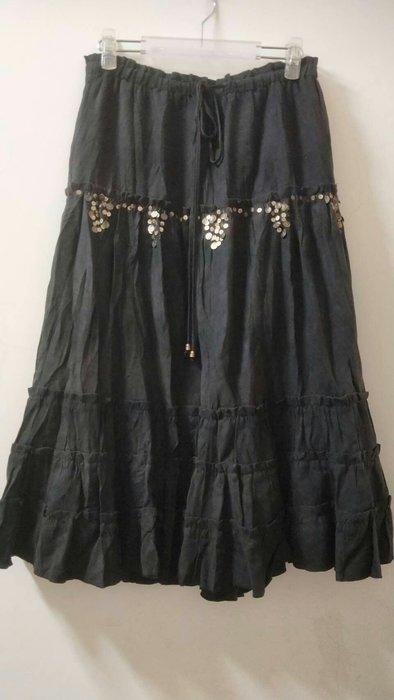 Pretty&Rosa 巴黎品牌 麂皮 波西米雅亞風長裙 38號