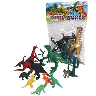 恐龍公仔 侏儸紀恐龍玩具 F286/一袋10隻入(促50) 仿真恐龍模型-首BB5756C